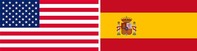 Banderas EEUU y España
