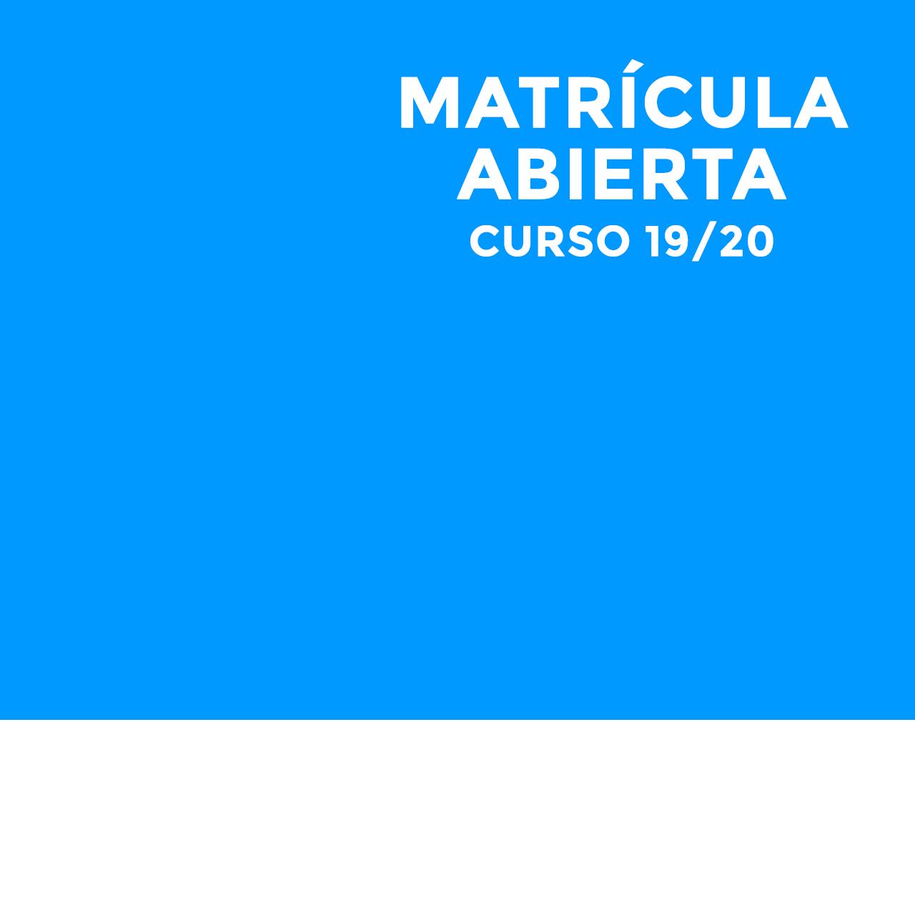 Matriculas abiertas Curso 2019 2010