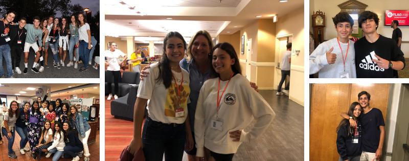 alumnos en la orientation camp de Estados Unidos 2019