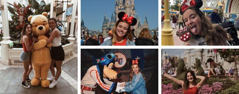 Imágenes de alumnos en Walt Disney World