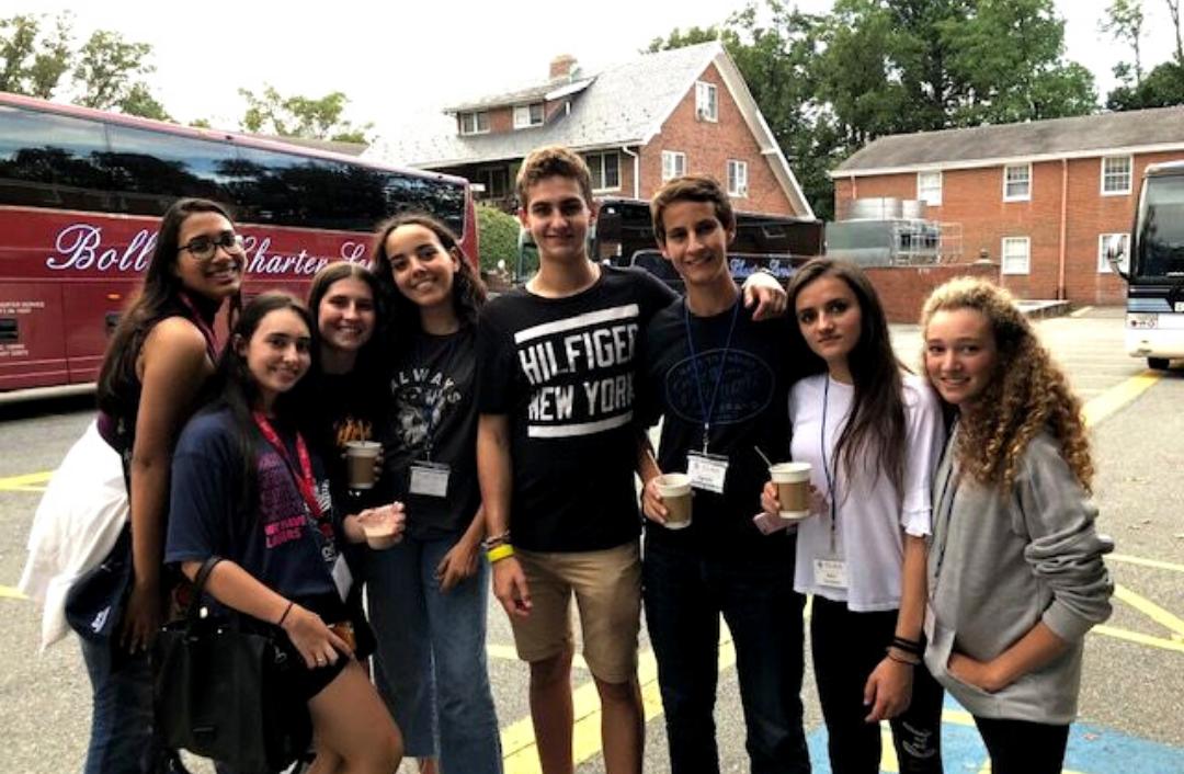grupo de alumnos durante la Orientation Camp celebrada en Washington 2018