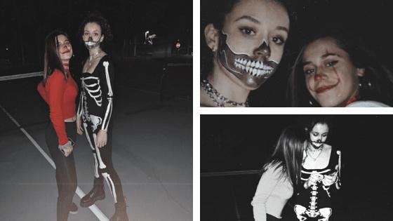Alumnos disfrazados de Halloween