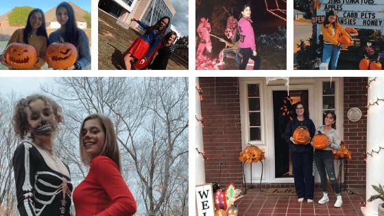alumnos de Año Académico en Estados Unidos disfrazados celebrando Halloween