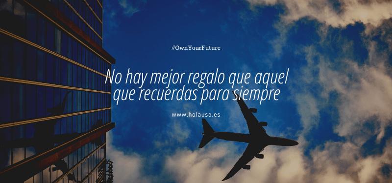imagen de avión y frase sobre viajar