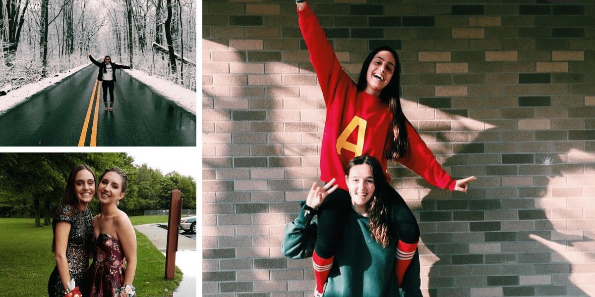 Cristina con sus amigos americanos durante su año académico en Indiana
