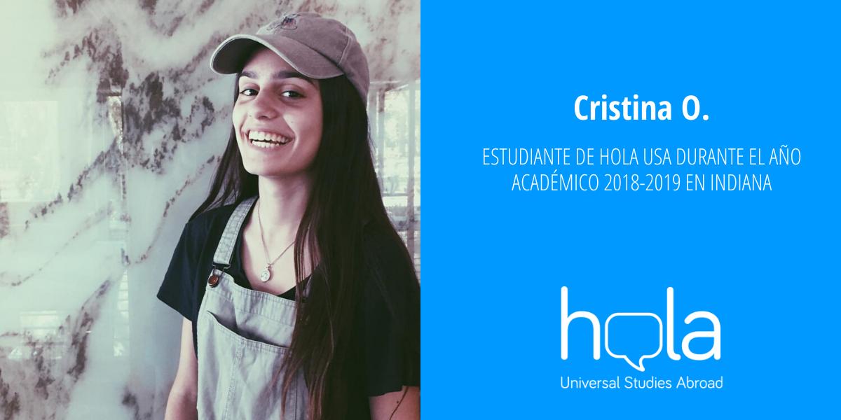 Cristina O. alumna de año académico en EEUU