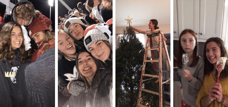 alumna durante la Navidad en Estados Unidos 2019