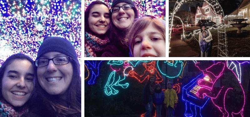 Elena s. con su host family durante la Navidad 2019