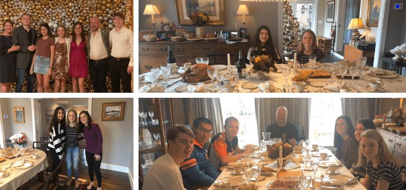alumnos de año académico en USA durante las navidades 2019