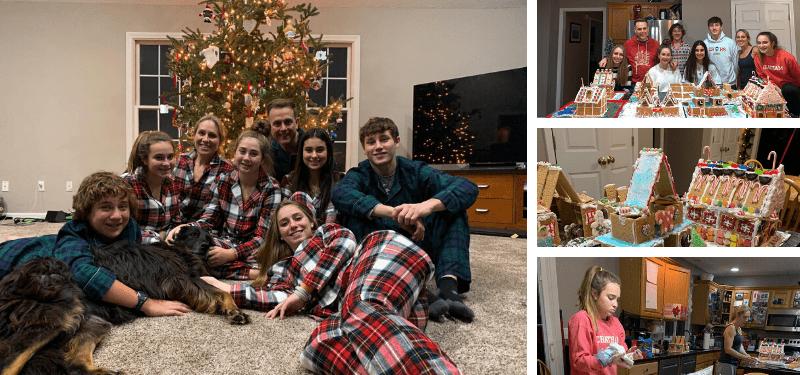 alumnos durante las navidades 2019 en EEUU