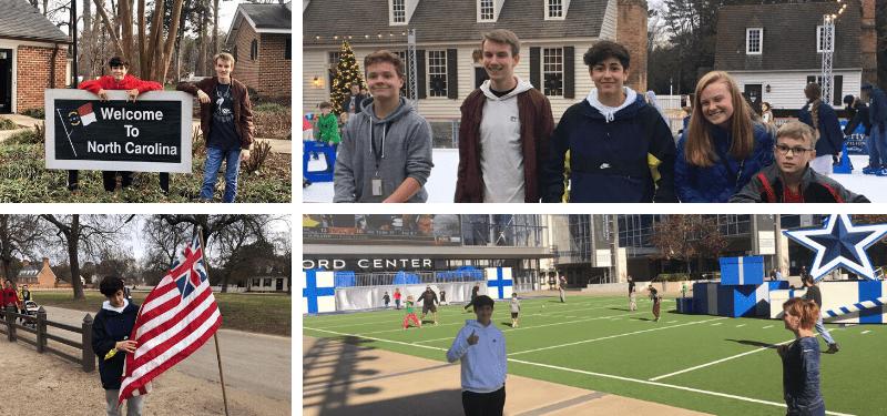 alumnos en Estados Unidos durante la Navidad 2019