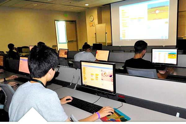 Campamento científico de informática, desarrollo y programación en USA