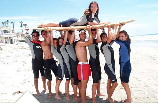 Campamento de verano de surf en California - EEUU