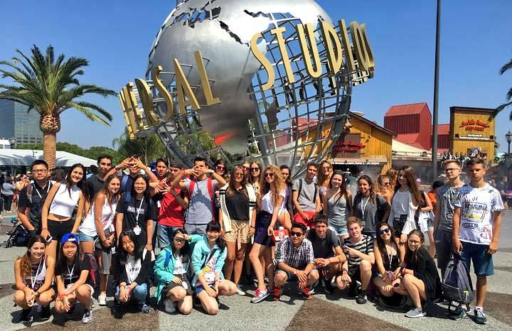 Alumnos de campamentos de verano en EEUU