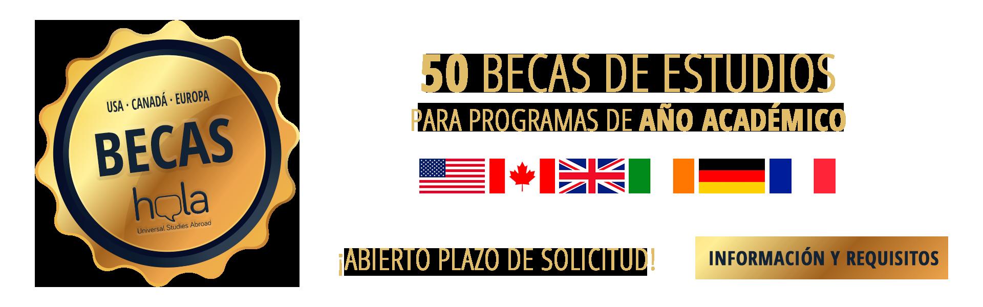 50 becas para estudiar enel extranjero el curso escolar 21-22