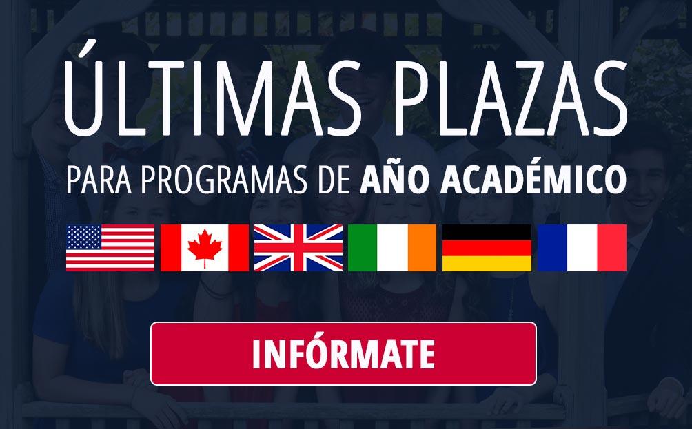 Últimas plazas para programas de Año Académico - Curso 21/22
