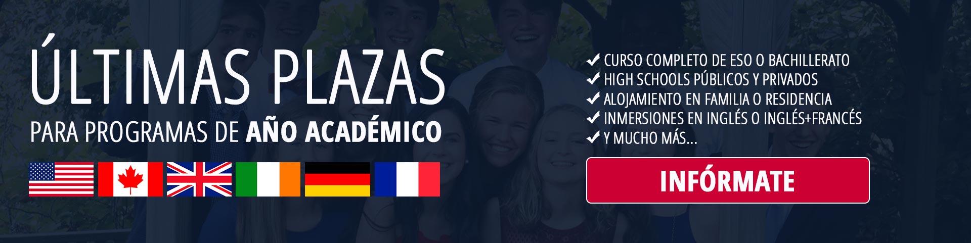 Últimas plazas para curso 21/22 en el extranjero