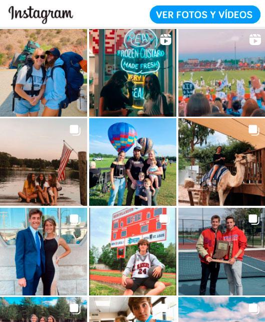Fotos y vídeos de estudiantes en el extranjero en Instagram
